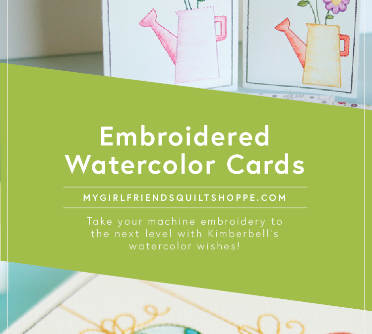 Embroidered Watercolor Cards!