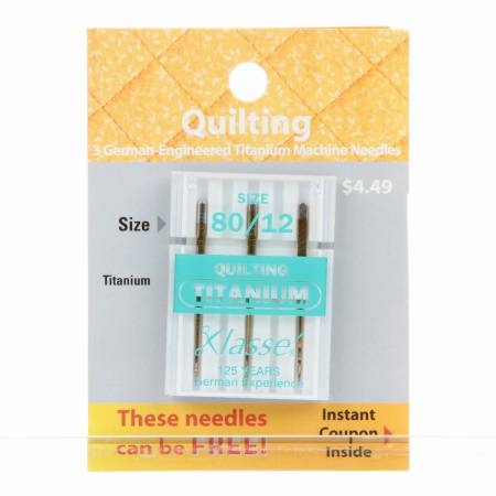 Klasse Quilting Titanium Needles 80//12