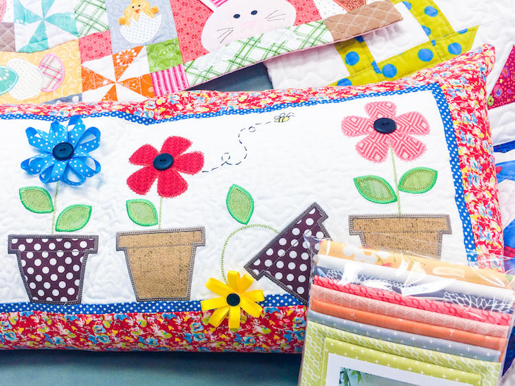 May Flowers Bench Pillow Kit