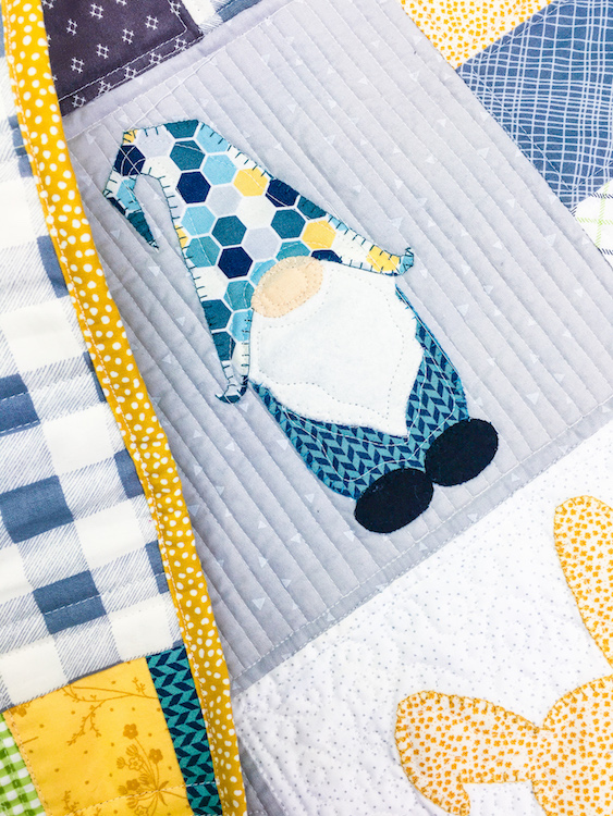 Baby Quilt Patterns.Snow White S Lost Gnome Baby Quilt Pattern My Girlfriends Quilt