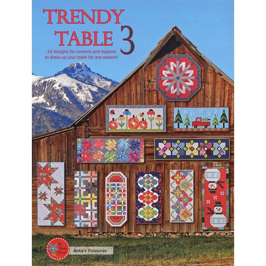 Trendy Table Topper 3 by Anka's Treasures